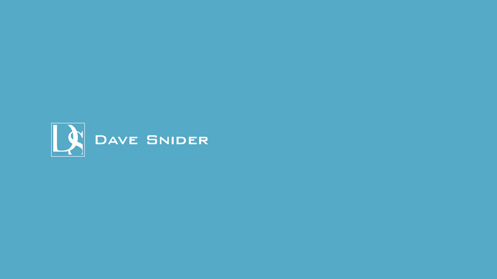 brand design marketing and web design-for Dave Snider