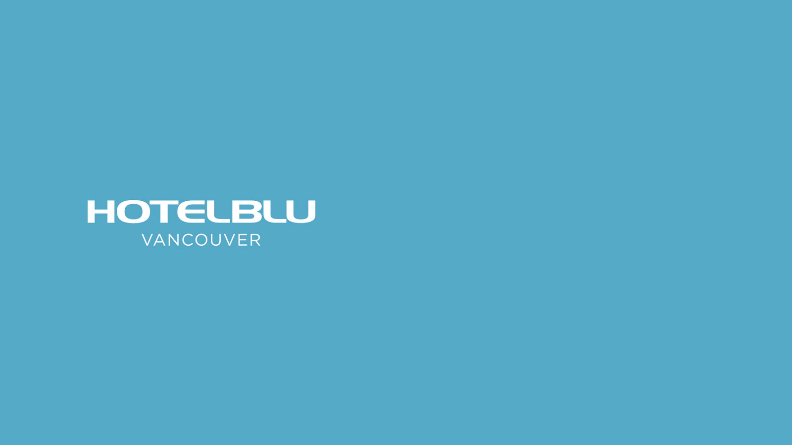 graphic design and web design for Hotel BLU