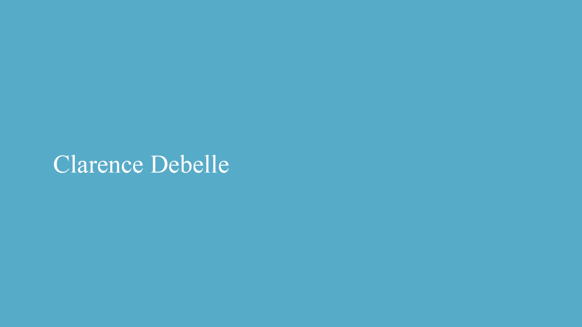 graphic design and web design for clarence debelle by hiline pakistan 01