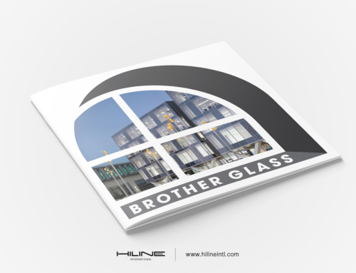 Brother Glass profile Brochure Print Design by Hiline Lahore